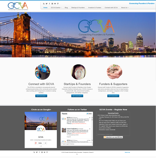 New GCVA Website Screenshot